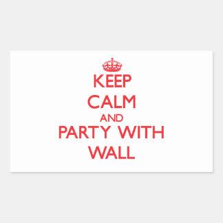 Guarde la calma y vaya de fiesta con la pared rectangular altavoz