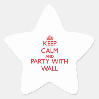 Guarde la calma y vaya de fiesta con la pared calcomanía cuadrada
