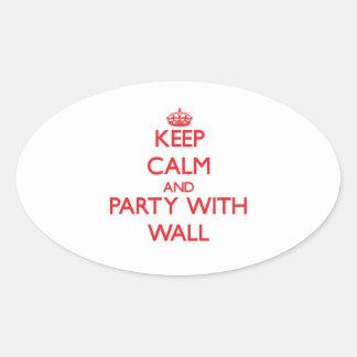 Guarde la calma y vaya de fiesta con la pared calcomanías ovaladas personalizadas