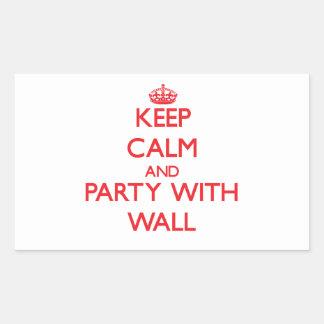 Guarde la calma y vaya de fiesta con la pared rectangular pegatina