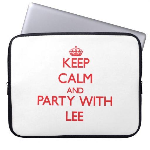 Guarde la calma y vaya de fiesta con Lee Fundas Ordendadores