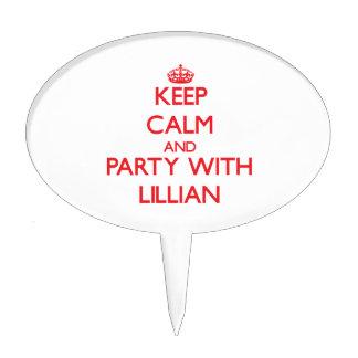 Guarde la calma y vaya de fiesta con Lillian Decoraciones De Tartas
