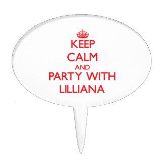Guarde la calma y vaya de fiesta con Lilliana Decoraciones Para Tartas