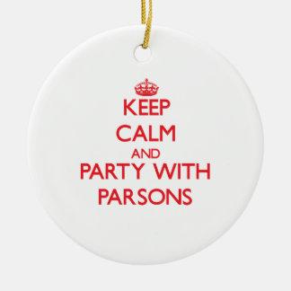 Guarde la calma y vaya de fiesta con los párrocos ornato