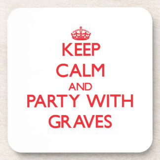 Guarde la calma y vaya de fiesta con los sepulcros posavasos