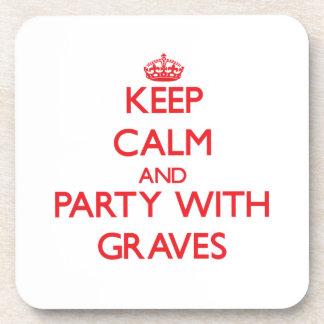 Guarde la calma y vaya de fiesta con los sepulcros posavasos de bebidas