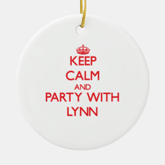 Guarde la calma y vaya de fiesta con Lynn Adorno Para Reyes