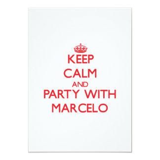 Guarde la calma y vaya de fiesta con Marcelo Anuncio