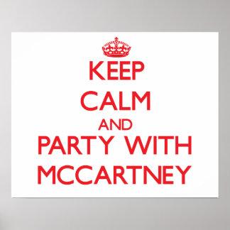 Guarde la calma y vaya de fiesta con McCartney Posters