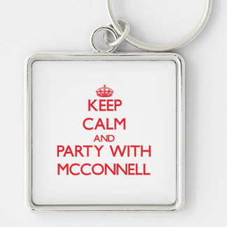 Guarde la calma y vaya de fiesta con Mcconnell Llavero Personalizado