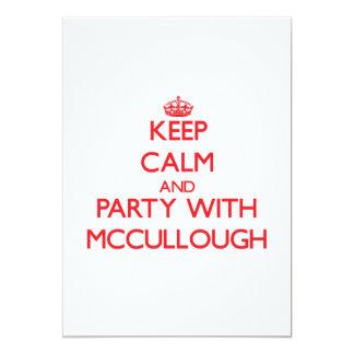 Guarde la calma y vaya de fiesta con Mccullough Invitación 12,7 X 17,8 Cm