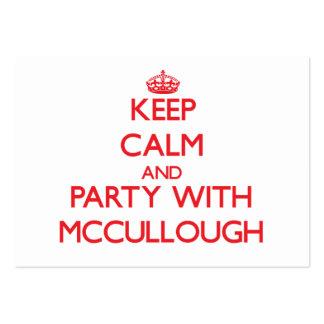 Guarde la calma y vaya de fiesta con Mccullough Tarjetas De Negocios