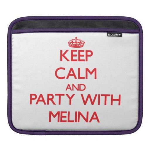 Guarde la calma y vaya de fiesta con Melina Funda Para iPads