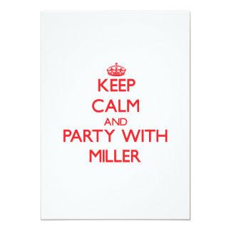 Guarde la calma y vaya de fiesta con Miller Comunicado Personalizado