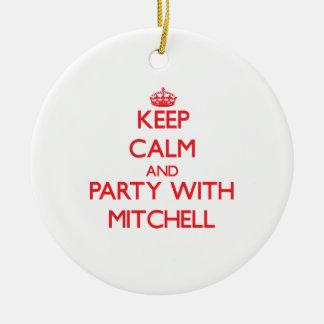 Guarde la calma y vaya de fiesta con Mitchell Ornamentos De Reyes Magos