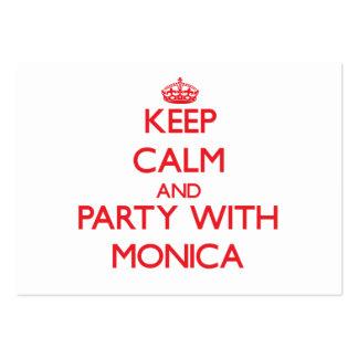 Guarde la calma y vaya de fiesta con Mónica Plantillas De Tarjetas De Visita