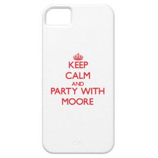 Guarde la calma y vaya de fiesta con Moore iPhone 5 Case-Mate Carcasa