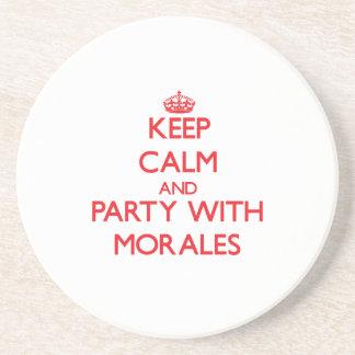 Guarde la calma y vaya de fiesta con Morales Posavasos Manualidades