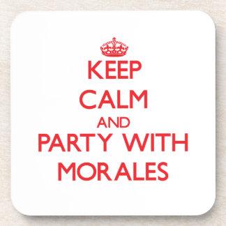 Guarde la calma y vaya de fiesta con Morales Posavasos De Bebida