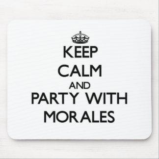 Guarde la calma y vaya de fiesta con Morales Alfombrillas De Raton