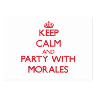 Guarde la calma y vaya de fiesta con Morales Tarjetas Personales