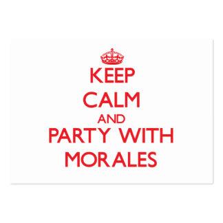 Guarde la calma y vaya de fiesta con Morales Tarjetas De Visita Grandes