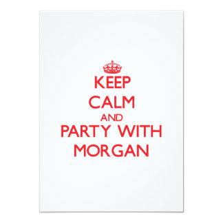 Guarde la calma y vaya de fiesta con Morgan Invitaciones Personales