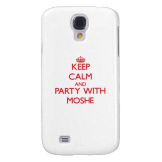 Guarde la calma y vaya de fiesta con Moshe Funda Para Galaxy S4