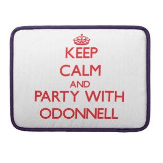 Guarde la calma y vaya de fiesta con Odonnell Funda Macbook Pro