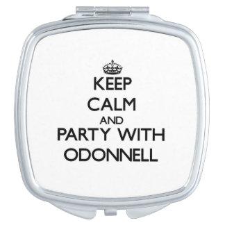 Guarde la calma y vaya de fiesta con Odonnell Espejos De Viaje