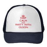 Guarde la calma y vaya de fiesta con Olson Gorros