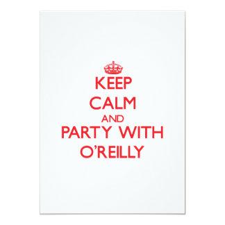 Guarde la calma y vaya de fiesta con O'Reilly Invitación 12,7 X 17,8 Cm