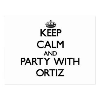 Guarde la calma y vaya de fiesta con Ortiz Postales