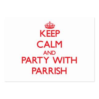 Guarde la calma y vaya de fiesta con Parrish Tarjeta De Visita