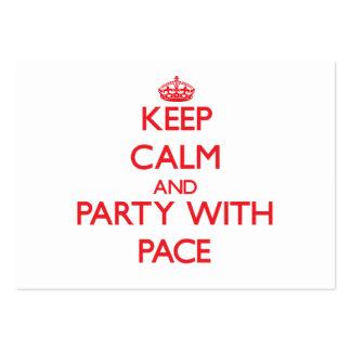 Guarde la calma y vaya de fiesta con paso