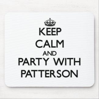 Guarde la calma y vaya de fiesta con Patterson Tapete De Raton