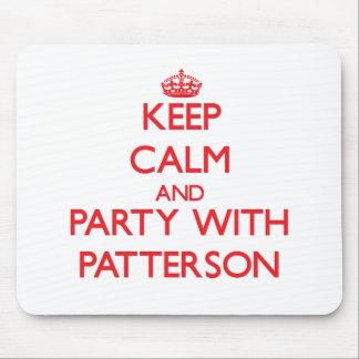Guarde la calma y vaya de fiesta con Patterson Alfombrillas De Raton