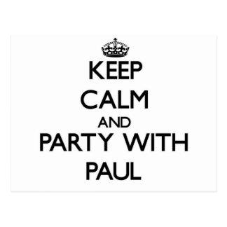Guarde la calma y vaya de fiesta con Paul Postales