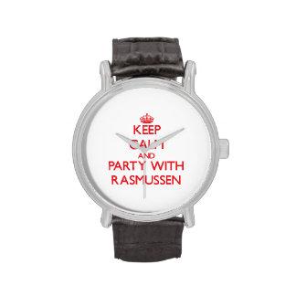Guarde la calma y vaya de fiesta con Rasmussen Relojes