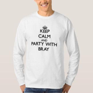 Guarde la calma y vaya de fiesta con rebuzno camisas