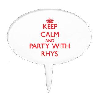 Guarde la calma y vaya de fiesta con Rhys Decoraciones Para Tartas