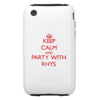 Guarde la calma y vaya de fiesta con Rhys Tough iPhone 3 Cárcasas
