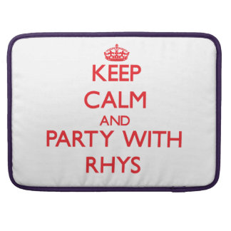 Guarde la calma y vaya de fiesta con Rhys Fundas Para Macbooks