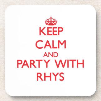 Guarde la calma y vaya de fiesta con Rhys Posavasos De Bebida