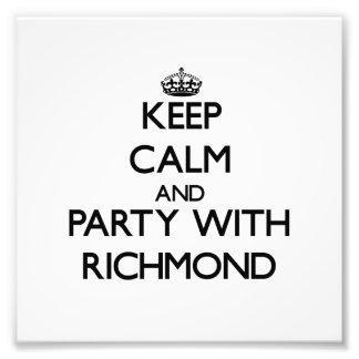 Guarde la calma y vaya de fiesta con Richmond Arte Fotografico