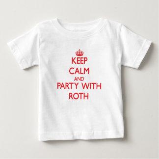Guarde la calma y vaya de fiesta con Roth Tshirts