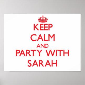 Guarde la calma y vaya de fiesta con Sarah Impresiones