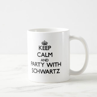 Guarde la calma y vaya de fiesta con Schwartz Taza