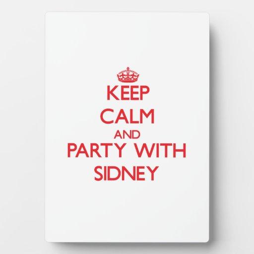 Guarde la calma y vaya de fiesta con Sidney Placas De Plastico