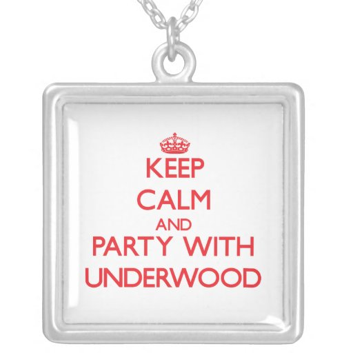 Guarde la calma y vaya de fiesta con sotobosque collar personalizado